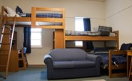 Image of a three-person residence hall room