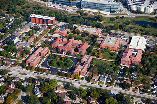 2017 Aerial image for campus tour